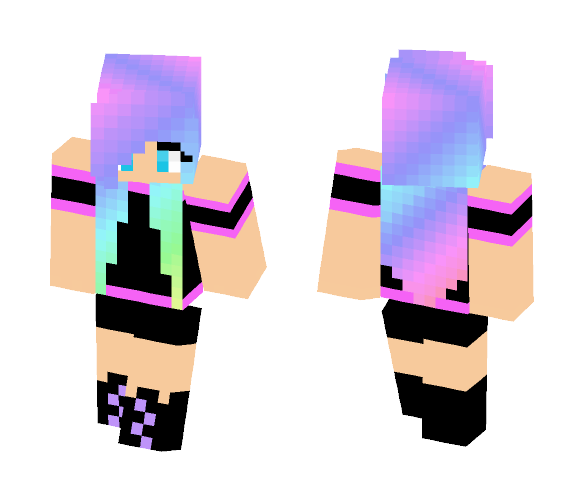 UNICORN HAIR GIRL - Color Haired Girls Minecraft Skins - image 1