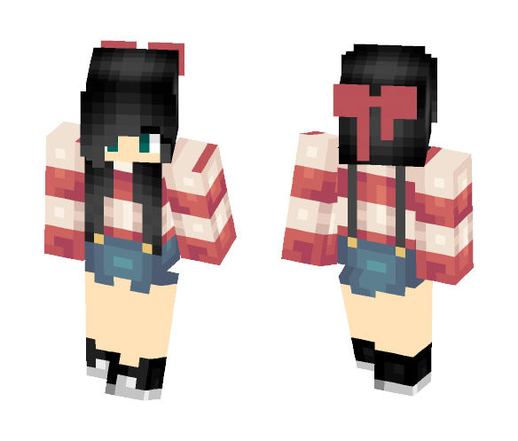 Cute black hair girl ???????????? - Color Haired Girls Minecraft Skins - image 1
