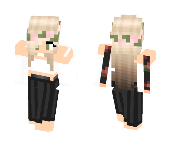 Cute Girl With Dress - Cute Girls Minecraft Skins - image 1