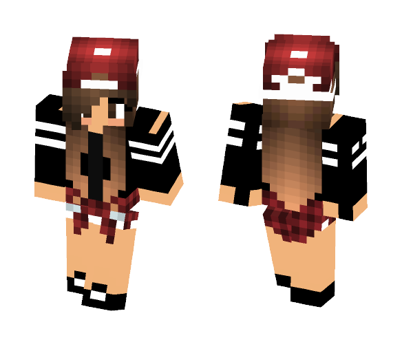 Brown haired girl - Color Haired Girls Minecraft Skins - image 1